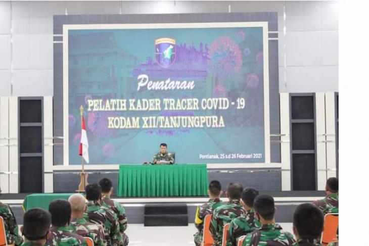 68 prajurit Kodam XII/Tpr ikuti pelatihan untuk menjadi kader tracer COVID-19