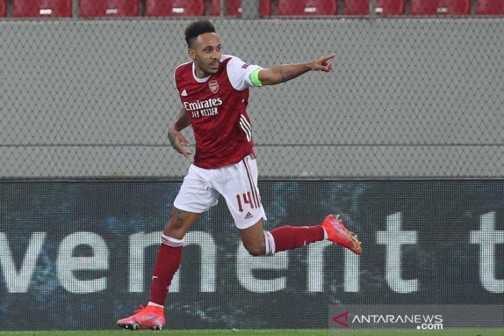 Aubameyang antar Arsenal ke 16 besar Liga Europa