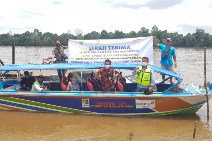 Pama hibahkan speedboat untuk Kecamatan Dusun Hilir