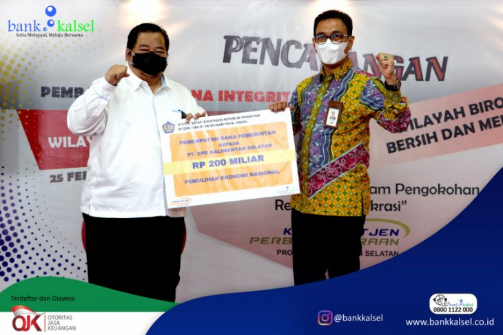 Bank Kalsel terima dana PEN Rp200 miliar