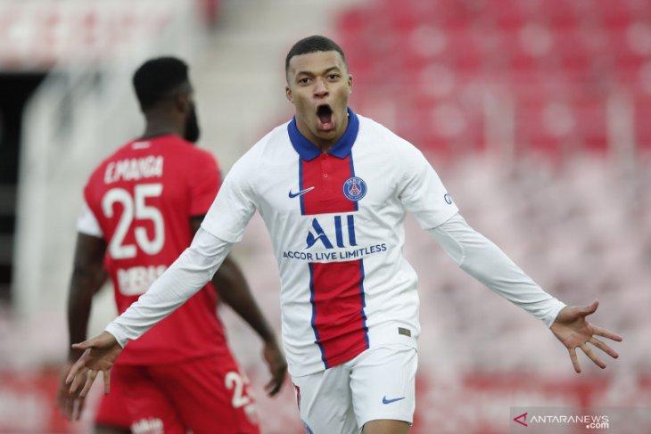 Liga Prancis: Dua gol Mbappe bantu PSG hancurkan Dijon 4-0