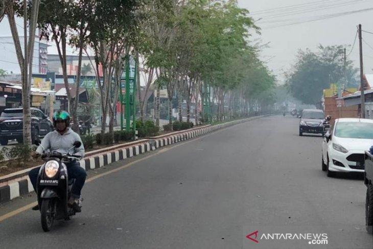 Kabut asap landa Meulaboh, warga diimbau pakai masker