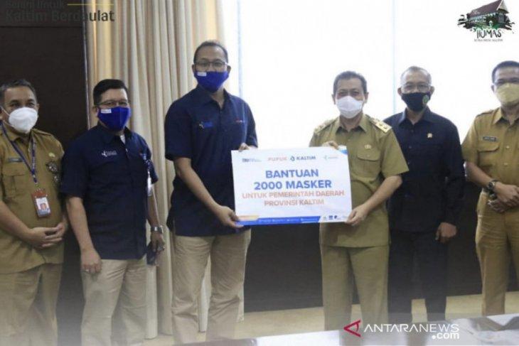 Pemprov terima bantuan dua ribu masker dari PT Pupuk Kaltim