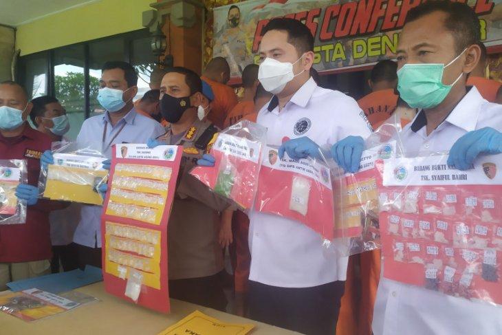 Februari 2021, Polresta Denpasar tangkap 40 pelaku narkotika