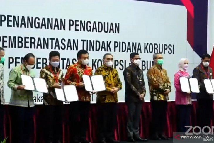 Kementerian BUMN-KPK tandatangani MoU Whistleblowing System