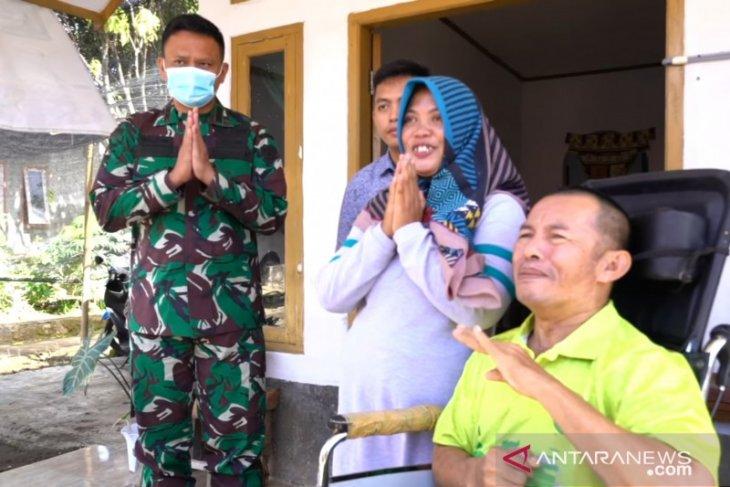 Istri Kasad motivasi prajurit yang tak berdaya karena stroke