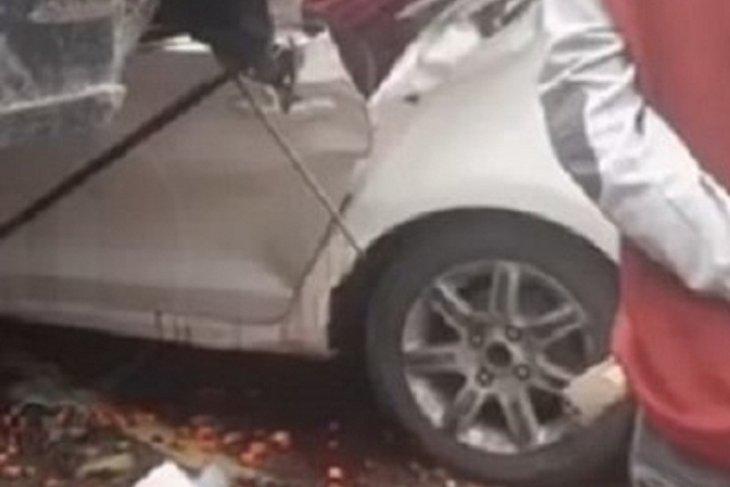 2 hari beruntun, 2 kali kecelakaan minibus tabrak ekor truk