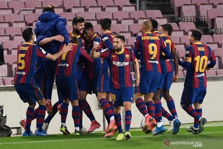 Barcelona melaju ke final usai menang atas Sevilla 3-0 di laga leg kedua semifinal Copa del Rey