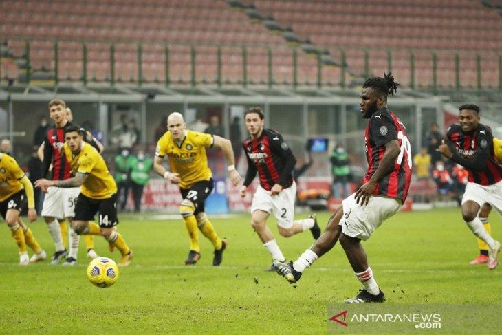 Penalti Franck Kessie selamatkan Milan dari kekalahan kontra Udinese