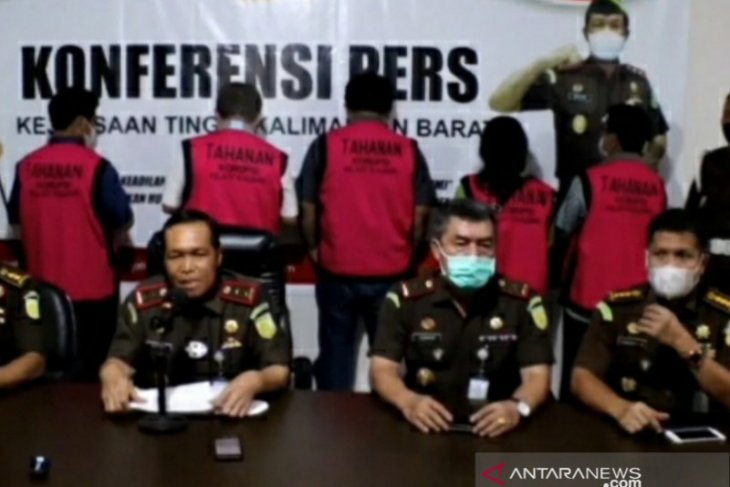 Kejati Kalbar tahan lima tersangka dugaan korupsi di PTPN XIII