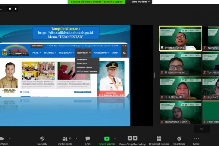 Kabupaten Tebo implementasikan  keterbukaan informasi pendidikan secara digital