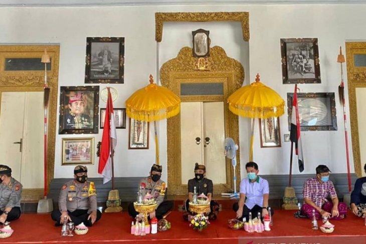 Kapolda Bali bersilaturahmi ke Puri Agung Klungkung