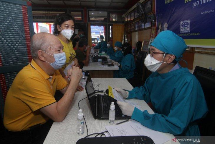 Sebanyak 1.074 warga lansia di Pontianak sudah jalani vaksinasi COVID-19