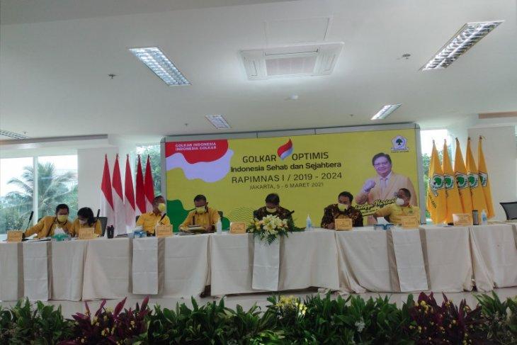Airlangga Hartarto umumkan hasil Rapimnas I Golkar 2021
