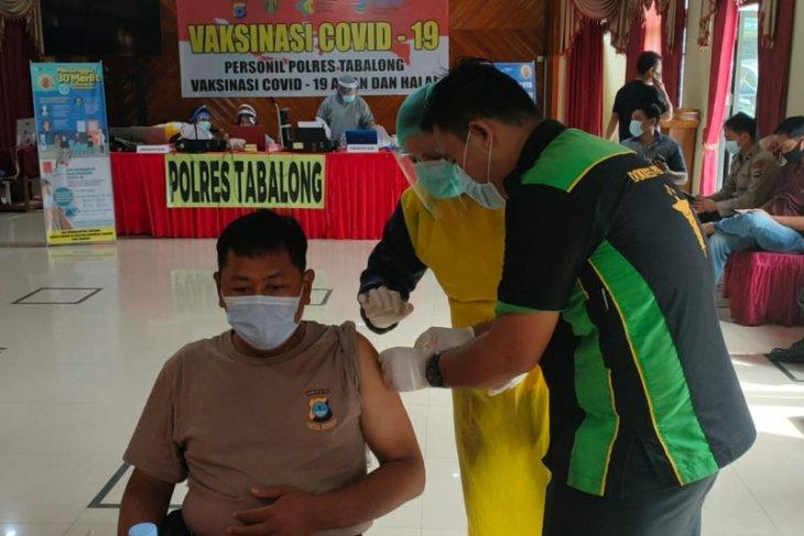 Anggota Polres Tabalong ikuti vaksinasi Sinovac
