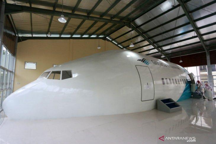 Asrama Haji Gorontalo miliki replika pesawat Garuda Boeing 777