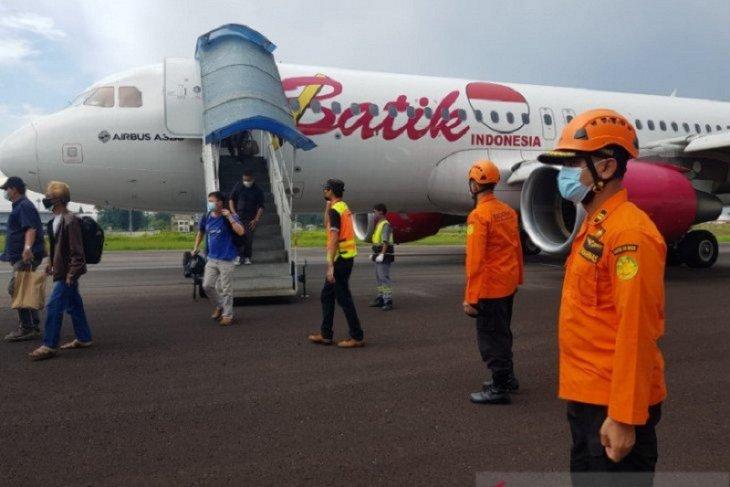Pesawat Batik Air PK-LUT berhasil dievakuasi