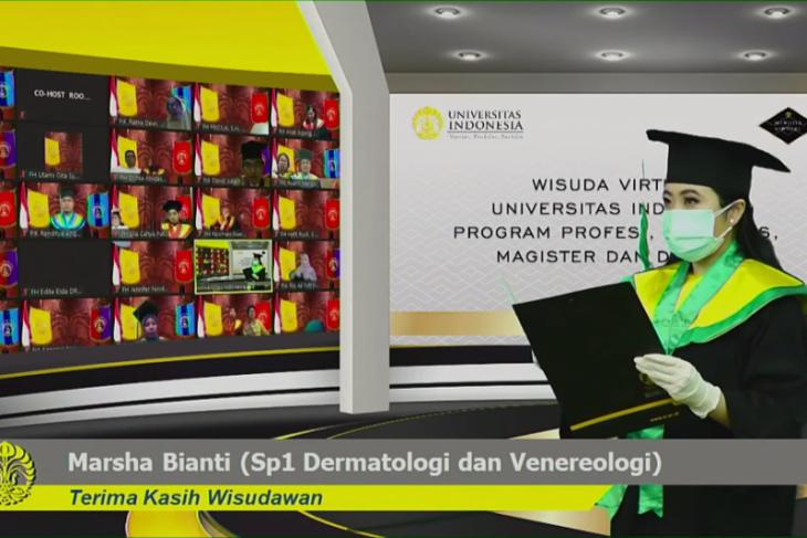 UI gelar wisuda virtual 4.361 lulusan D3 hingga program S3