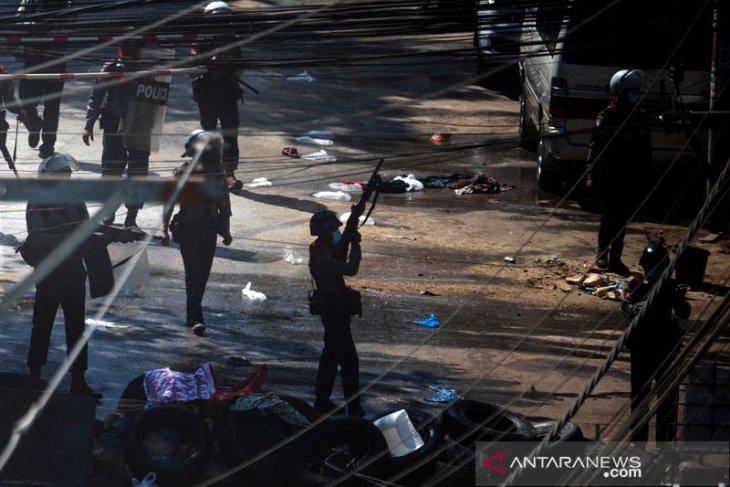 Pasukan Myanmar tembak hingga tewas sembilan orang penentang kudeta