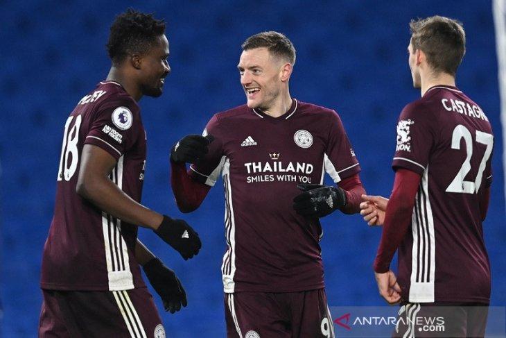 Leicester ke posisi kedua Liga Inggris setelah bangkit tundukkan Brighton