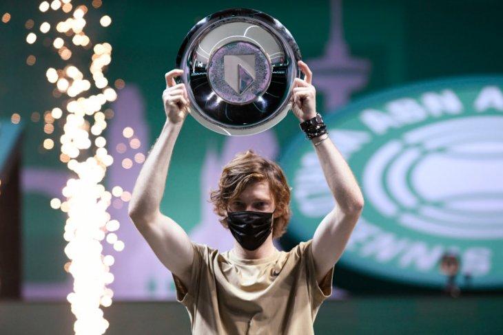 Tenis, Rublev catatkan gelar ATP 500 keempat di Rotterdam Open