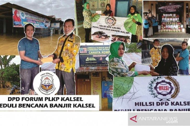 Forum PLKP dan HILLSI Kalsel salurkan bantuan untuk kursus terdampak banjir HST