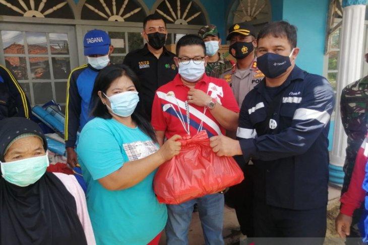 PT Timah membantu 51 keluarga korban angin puting beliung