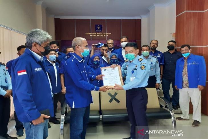Demokrat Aceh sambangi Kemenkumham nyatakan setia pada AHY