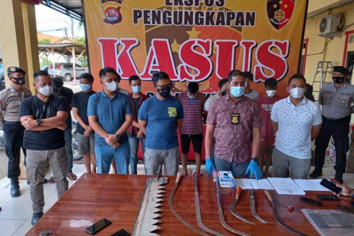 Polda Banten  tahan 19 pemuda diduga anggota geng motor
