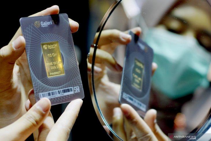 Emas jatuh 13 dolar tertekan penguatan dolar  meski imbal hasil turun
