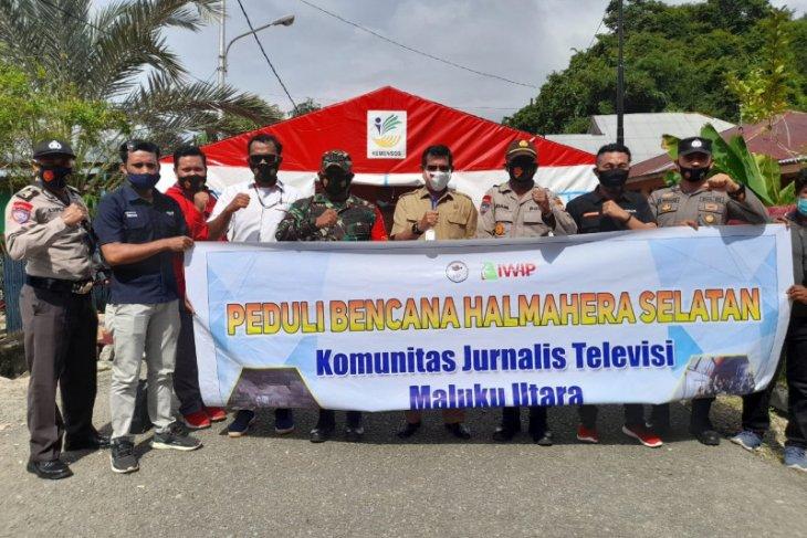Komunitas Jurnalis Televisi Malut salurkan  bantuan warga terdampak gempa Halsel