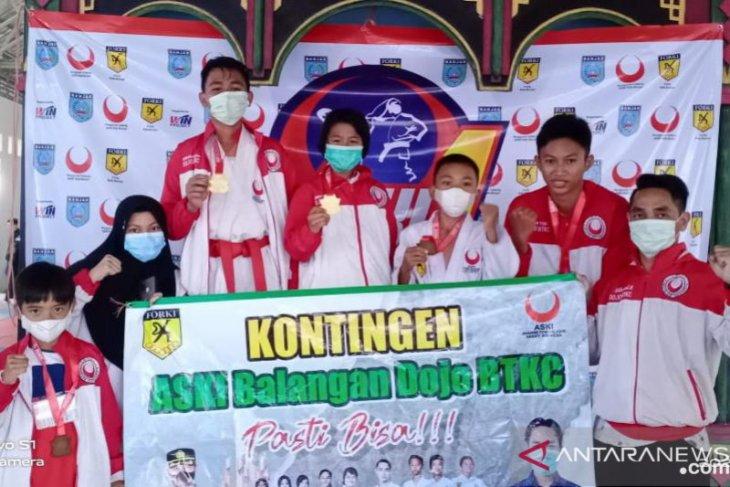 ASKI Balangan bawa pulang 5 medali pada kejuaraan ASKI Banjar 1 open