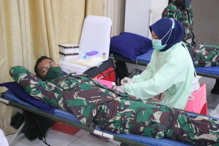 Polda Banten dan Korem 064 MY kerjasama dengan PMI gelar donor darah