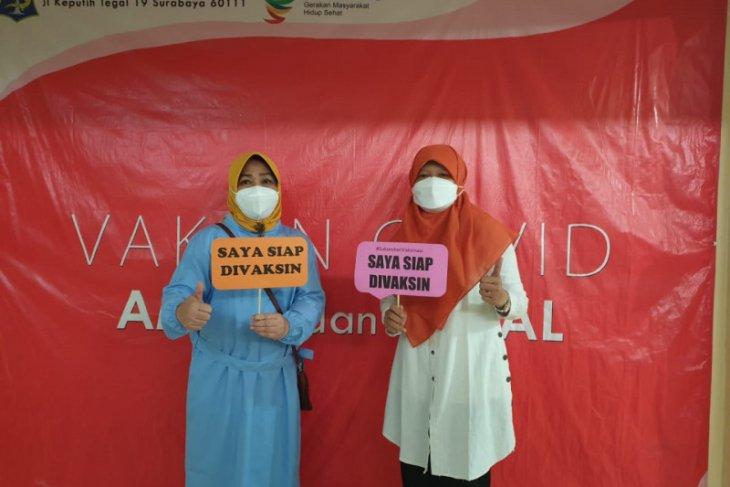 Vaksinasi COVID-19 di Kota Surabaya layak jadi percontohan