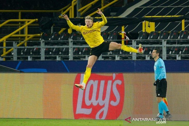 Dwigol Erling  Halland mantapkan langkah Dortmund ke perempat final