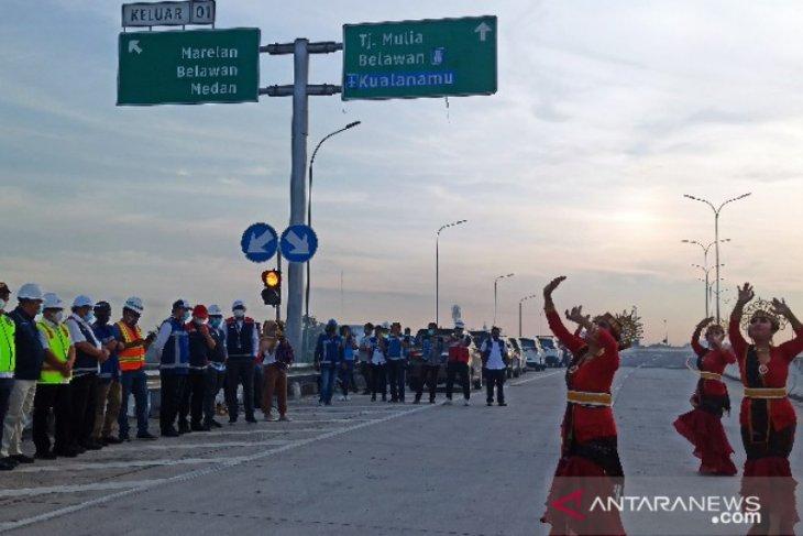 Jalan Tol Medan-Binjai seksi I jalur Tanjung Mulia-Marelan resmi dioperasikan