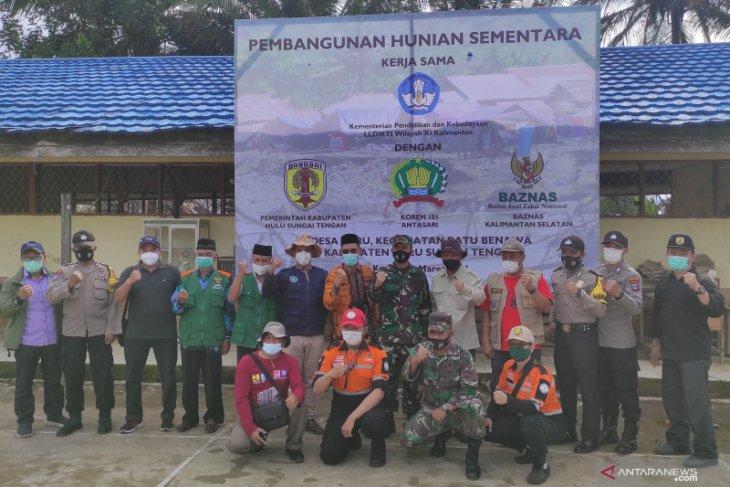 LLDIKTI kolaborasi dengan Baznas dan TNI bangun Huntara di HST