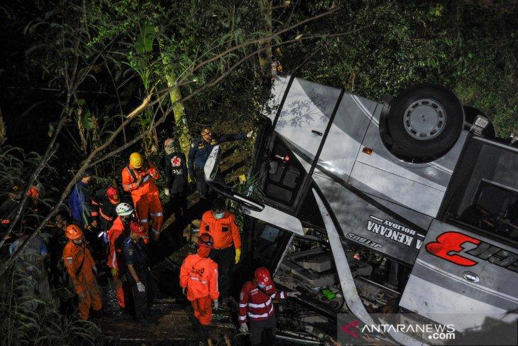 Korlantas Polri jelaskan kronologis kecelakaan maut bus di Sumedang