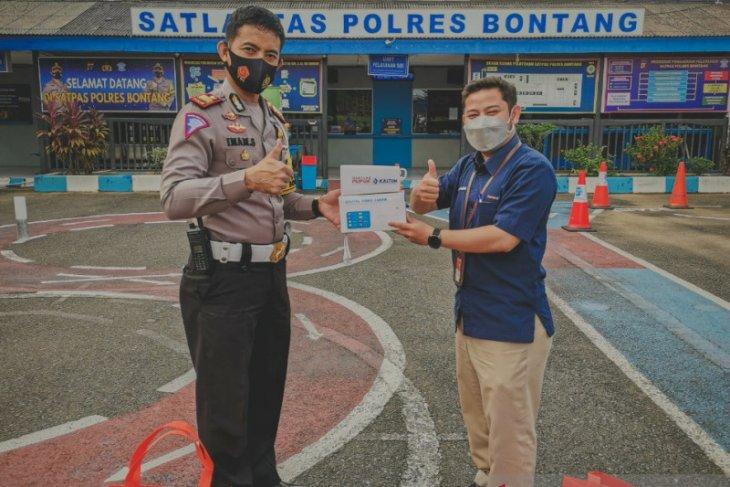 Dukung Kelancaran Lalu Lintas, Pupuk Kaltim Salurkan Bantuan 9 Unit CCTV ke Polres Bontang