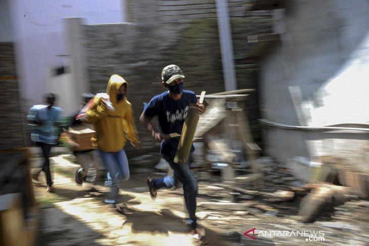 Simulasi tanggap bencana di Kabupaten Bandung Barat