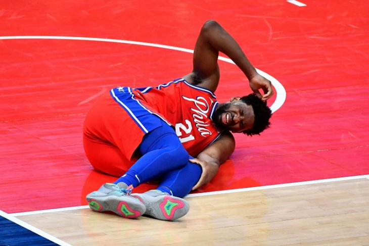 Meski cedera, Joel Embiid mampu bawa Sixers tundukkan Wizards 127-101