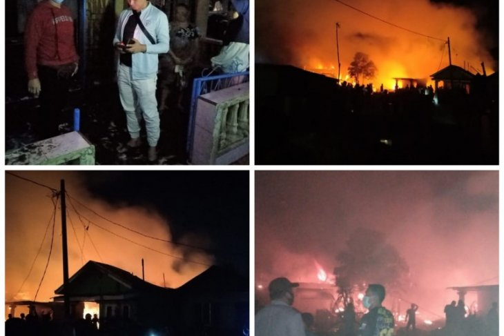 Sembilan rumah di Sei Bilah Langkat terbakar