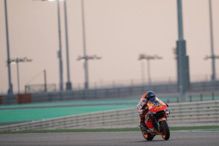 Angin kencang dan debu menutup tes pramusim MotoGP di Qatar