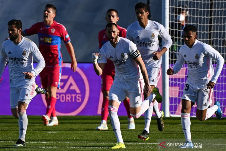 Madrid harus menunggu injury time untuk pastikan kemenangan dari Elche