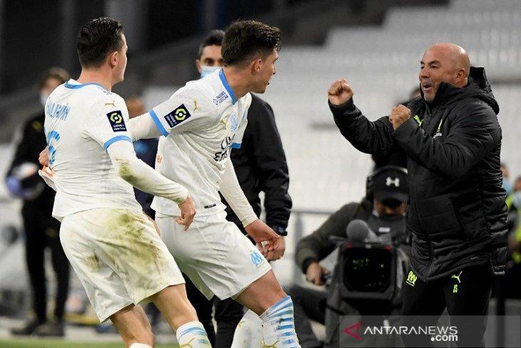 Dua gol menit-menit akhir kunci kemenangan Marseille atas Brest