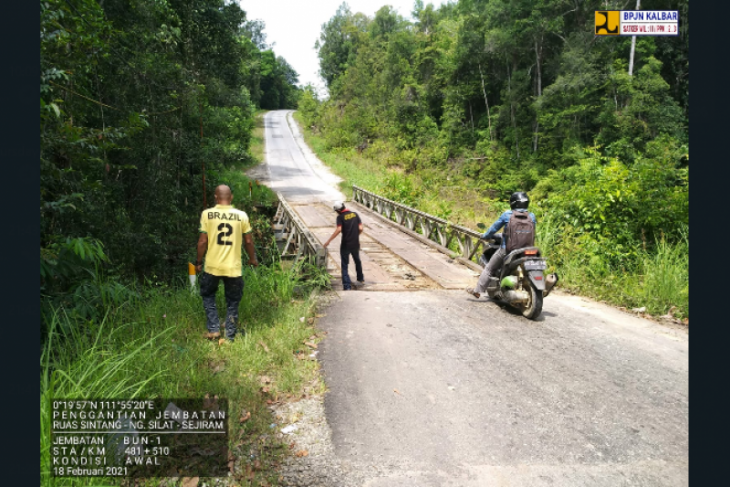 Jembatan di jalan nasional wilayah Kapuas Hulu dianggarkan Rp19,8 miliar
