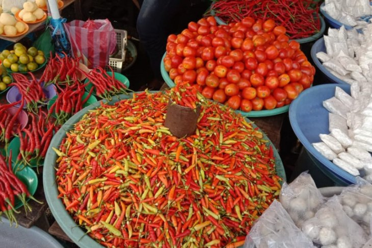 Harga cabai merah di pasar Ambon Rp100.000Kg