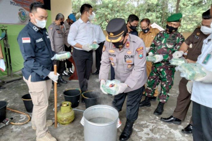 Polres Binjai musnahkan 10 kilogram sabu-sabu