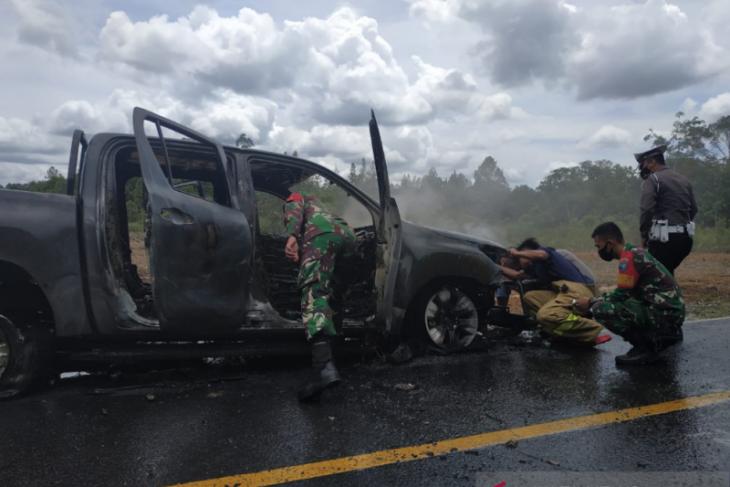 KPH Kapuas Hulu menunggu kepastian hukum kasus kebakaran mobil dinas