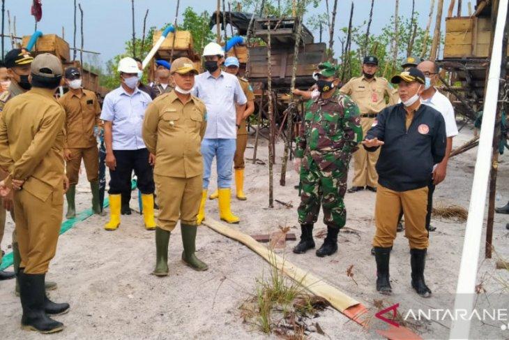 Tim gabungan razia tambang timah ilegal di daerah aliran sungai